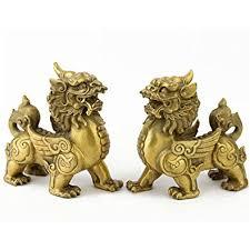 pixiu statue feng shui pair of brass pi xiu piyao statue for wealth