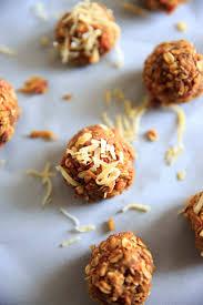 carrot cake energy bites vegan gluten free no bake snack