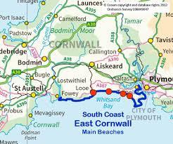 map of east uk south coast east cornwall cornwall s beaches a comprehensive