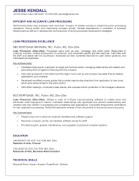 inspiration sample resume for loan processor in loan coordinator