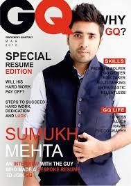 resume cover design this guy s magazine style resume got him an internship at gq sumukh mehta gq resume cover