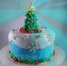 here is my spectacular fondant christmas tree cake that will give