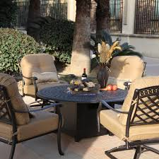 patio furniture conversation sets with fire pit home outdoor