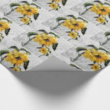 sunflower wrapping paper rock texture wrapping paper zazzle ca