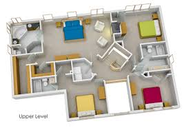 Color Floor Plan Floor Plans And 3 D House Tours Give Better Perspective