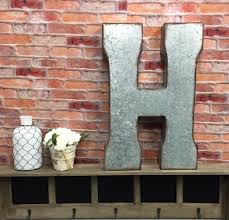 metal letters wall decor wall metal letter galvanized metal letters letter h large letter h galvanized letter wedding