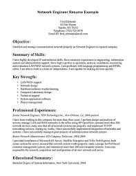network engineer resume sample cover letter electrical engineer