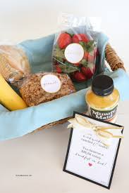 breakfast baskets breakfast in bed gift basket idea and printables