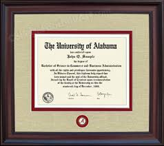 of alabama diploma frame of alabama crimson tide diploma framed in walnut or