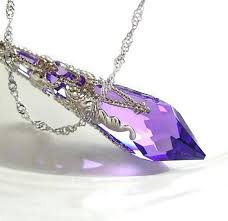 purple necklace images Purple crystal necklace sterling silver necklace swarovski crystal jpg
