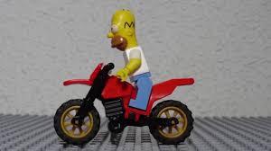 motocross action figures homer simpson haciendo motocross youtube