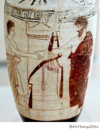 Greek Red Figure Vase Attic White Ground Red Figure Lekythos Images Of Ancient Vases