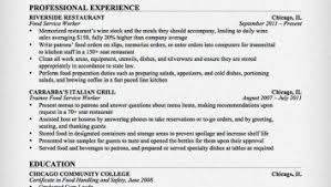 Waiter Resume Example by Free Resume Template Plgsa Org