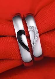 wedding ring sets for him and cheap black white heart wedding rings heart wedding rings