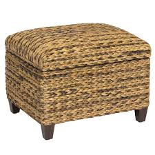Ottoman Translation by Hand Woven Seagrass Storage Ottoman Brown U2013 Best Choice Products
