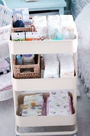 newborn baby necessities new essentials the ikea changing cart with a list to
