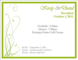 rsvp invitation template best template collection