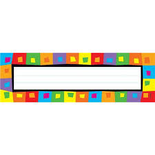 silly squares desk toppers name plates