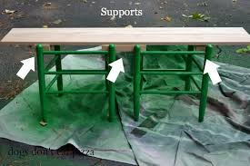 Bench Supports How To Make A Bench From An Old Headboard The Diy Bungalow