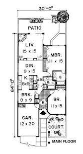 narrow house floor plans for narrow lots hwbdo10424 bungalow house plan from
