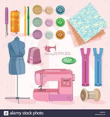 thread for sewing supplies and accessories for sewing on light