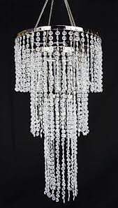 diamond chandelier 18 inch hanging diamond cut 3 tier chandelier buy now