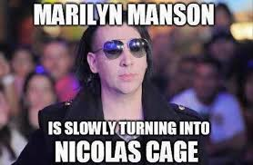 Marilyn Meme - marilyn manson is slowly turning into nicolas cage memes and comics