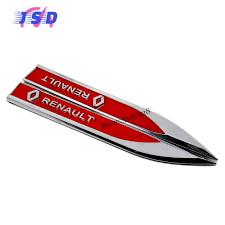 renault car logo 3d car side fender stickers for renault logo auto metal blade