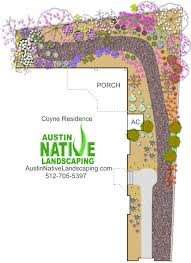 Butterfly Garden Layout by Austin Wildscape Landscaping For Wildlife Hummingbirds