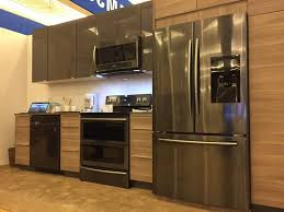 whirlpool stainless steel kitchen appliance package red schemes