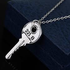 antique silver key necklace images Sherlock holmes 221b key baker street key necklace vintage antique jpg