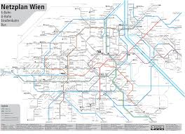 Transport Map Vienna Subway Map Vs Actual Geography Inspired By U