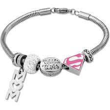 connections from hallmark stainless steel supermom charm bracelet
