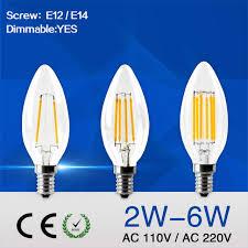 c35 led candle bulb e12 e14 dimmable led edison light lamp retro