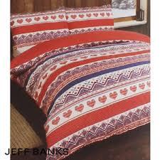Postman Pat Duvet Set Buy Jeff Banks Brushed Cotton Red Double Duvet Set At Home Bargains