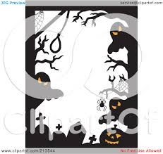 free halloween borders royalty free rf clipart illustration of a border of halloween