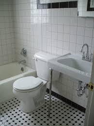 black white tile bathroom home depot