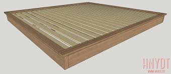 King Platform Bed Frame Plans by Diy Platform Bed Plans Diywithrick
