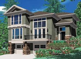 house plans for sloping lots plan 6924am for a front sloping lot garage loft lofts and