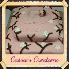 cherry blossom baby shower cake cakecentral com