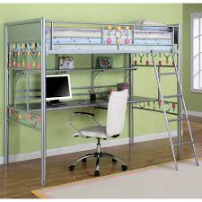 twin size beds for girls powell bauble girls twin metal loft bed with study desk
