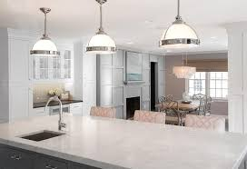 grosvenor kitchen design clemson pendant light and gray pink kitchen with two islands lit by