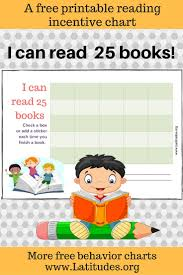 free reading incentive chart read 25 books cute kids acn