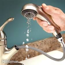 Kitchen Sink Faucet With Sprayer How To Clean Faucet Simplir Me