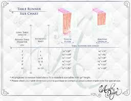 standard table runner size table runner length home design ideas and pictures