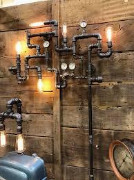 steunk home decor ideas cool design ideas steunk wall art industrial pipe light uk