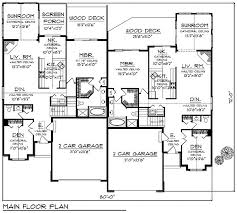 first floor plan of bungalow multi family plan 97394 homes