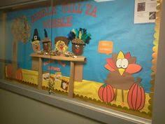 happy thanksgiving bulletin board finished preschool