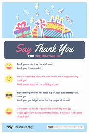 different ways to say thank you for birthday wishes