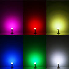 9w led rgb color changing light bulb glow products canada
